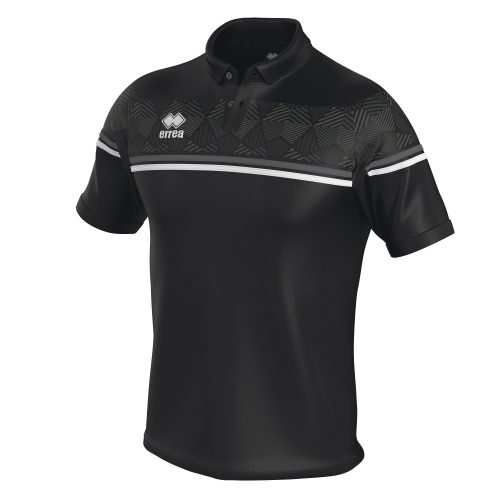 Errea Dominic Polo Shirt Black Grey White