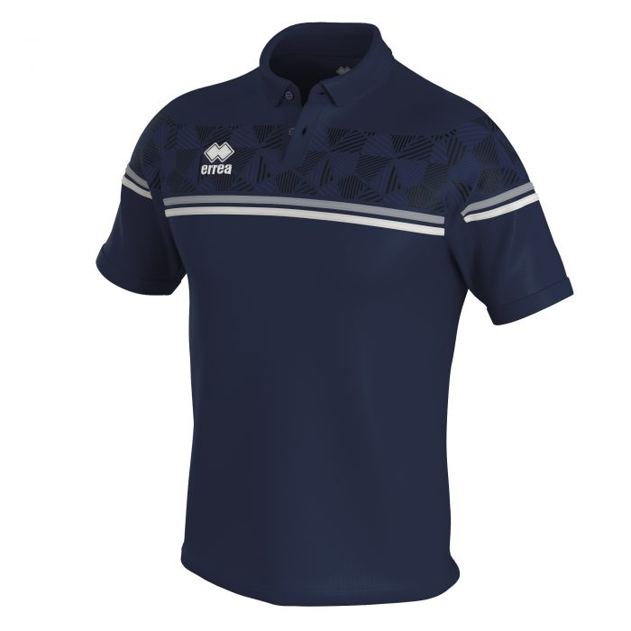 Errea Dominic Polo Shirt Navy White Grey