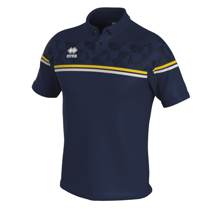 Errea Dominic Polo Shirt Navy Yellow White