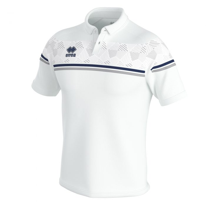 Errea Dominic Polo Shirt White Grey Navy