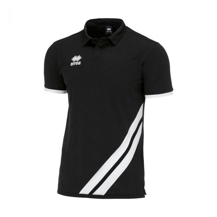 Errea John Polo Shirt Black White