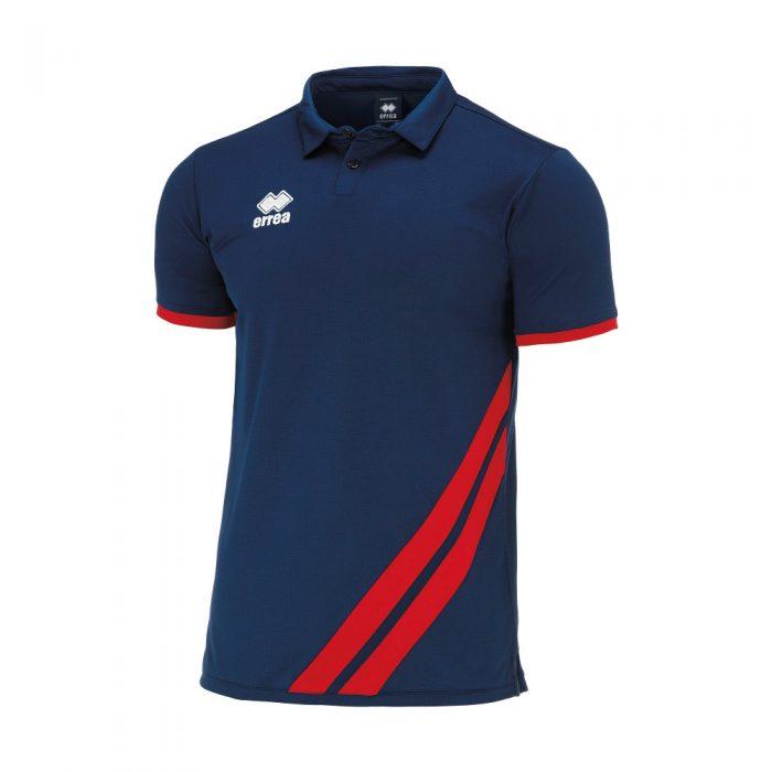 Errea John Polo Shirt Navy Red