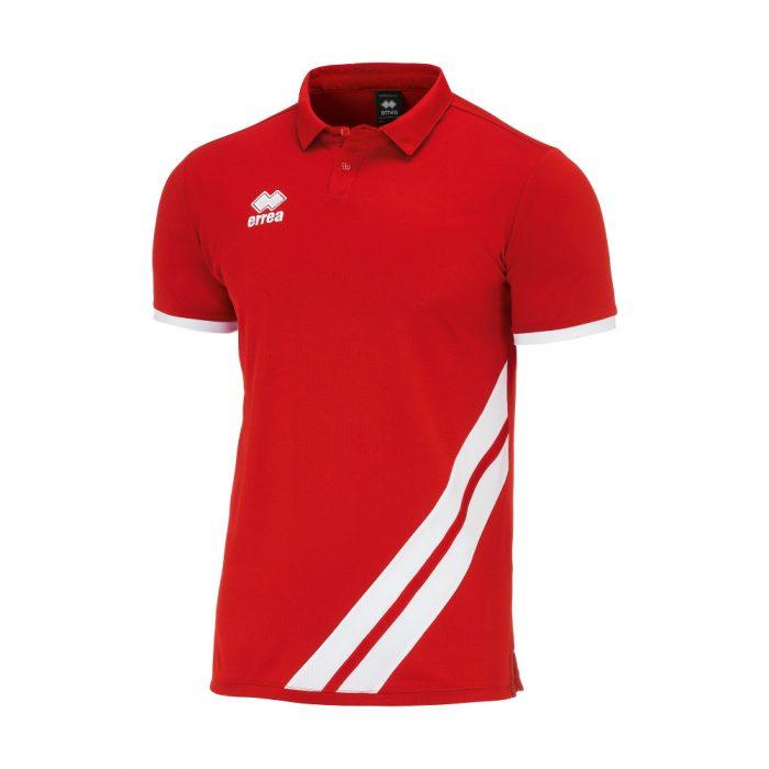 Errea John Polo Shirt Red White
