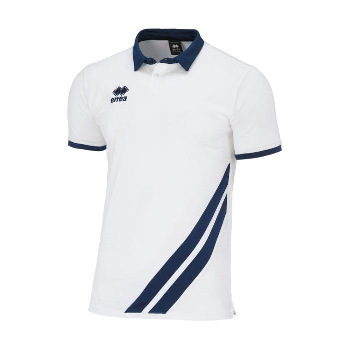 Errea John Polo Shirt White Navy