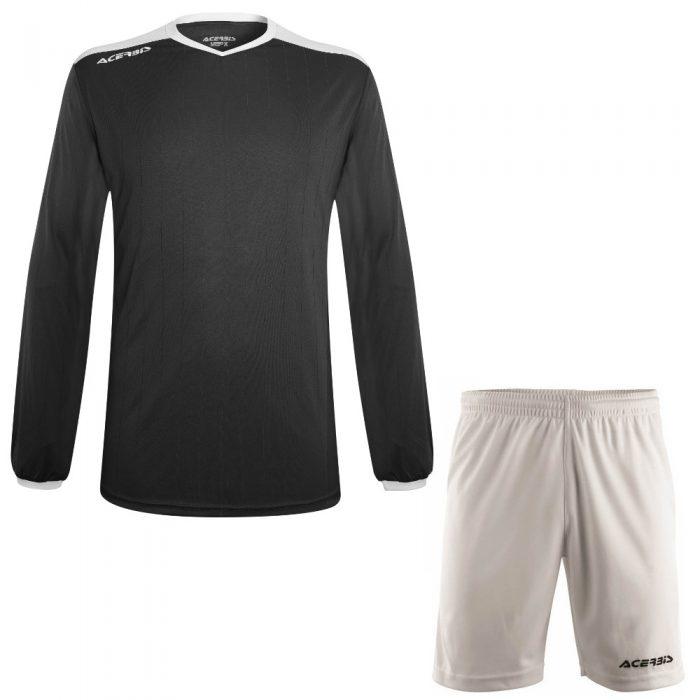 Acerbis Belatrix Long Sleeve Football Kit Black White