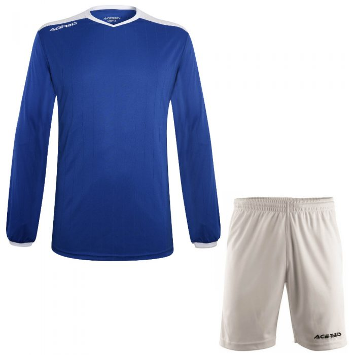Acerbis Belatrix Long Sleeve Football Kit Blue White