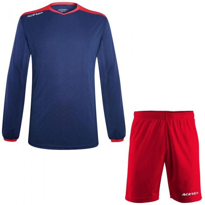 Acerbis Belatrix Long Sleeve Football Kit Navy Red