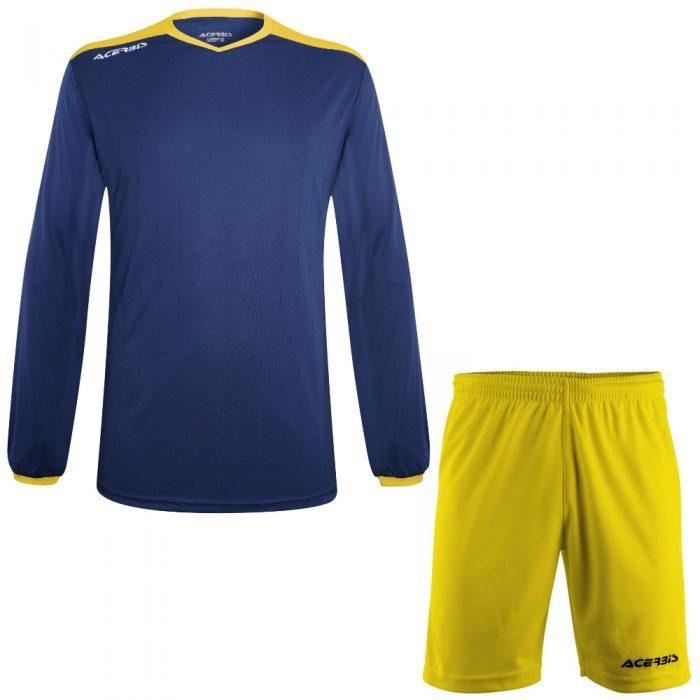 Acerbis Belatrix Long Sleeve Football Kit Navy Yellow