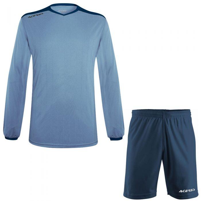 Acerbis Belatrix Long Sleeve Football Kit Sky Navy