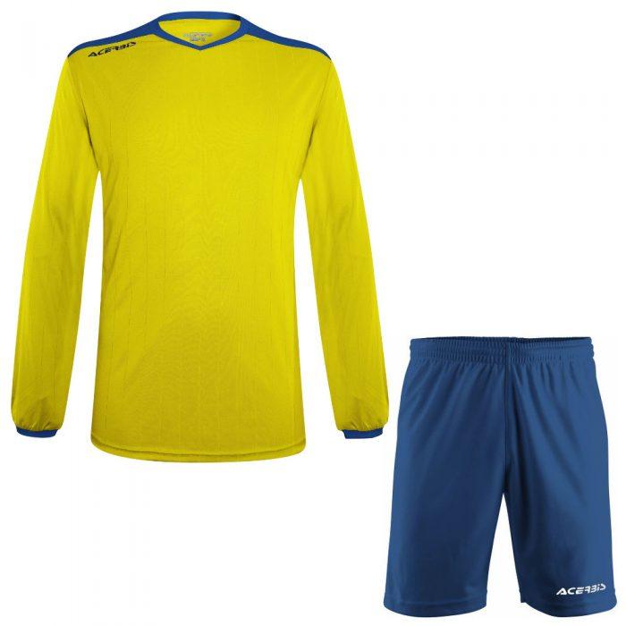 Acerbis Belatrix Long Sleeve Football Kit Yellow Blue