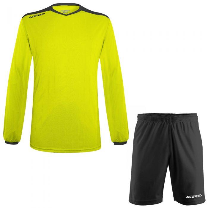 Acerbis Belatrix Long Sleeve Football Kit Yellow Fluo Black