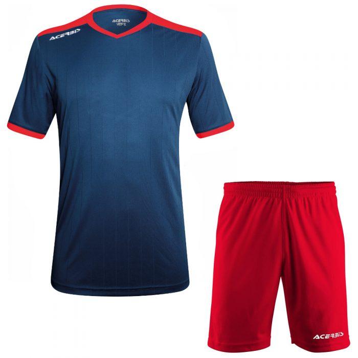 Acerbis Belatrix Short Sleeve Football Kit Navy Red