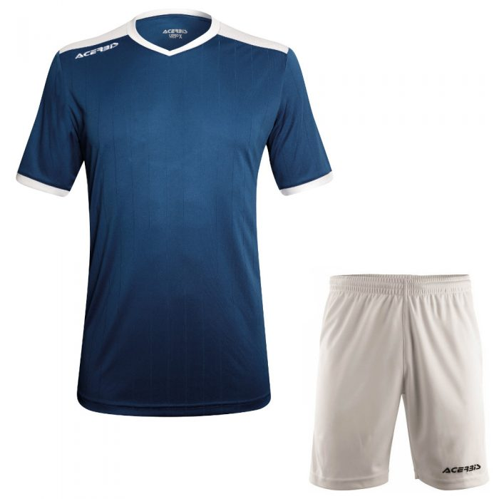 Acerbis Belatrix Short Sleeve Football Kit Navy White