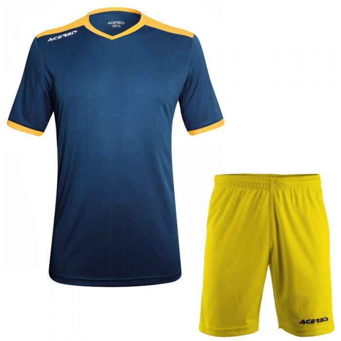 Acerbis Belatrix Short Sleeve Football Kit Navy Yellow