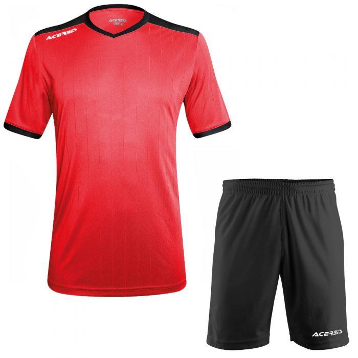 Acerbis Belatrix Short Sleeve Football Kit Red Black