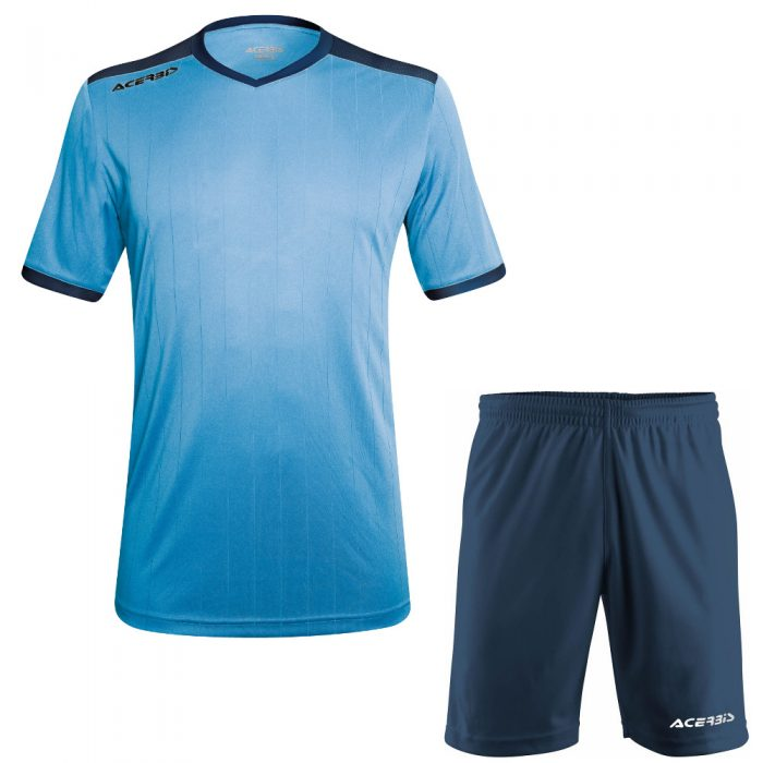 Acerbis Belatrix Short Sleeve Football Kit Sky Navy