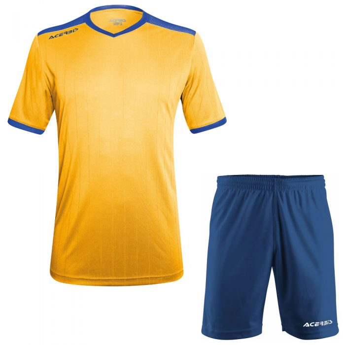 Acerbis Belatrix Short Sleeve Football Kit Yellow Blue
