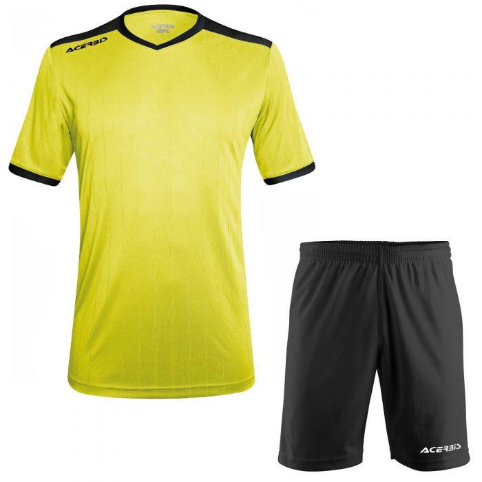 Acerbis Belatrix Short Sleeve Football Kit Yellow Fluo Black