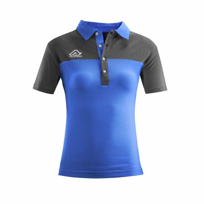 Acerbis Belatrix Womens Polo Shirt Blue Grey