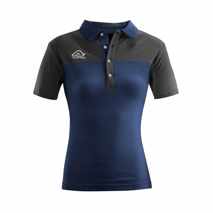 Acerbis Belatrix Womens Polo Shirt Navy Grey