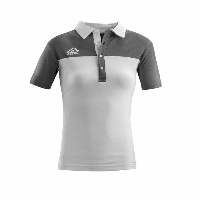 Acerbis Belatrix Womens Polo Shirt White Grey