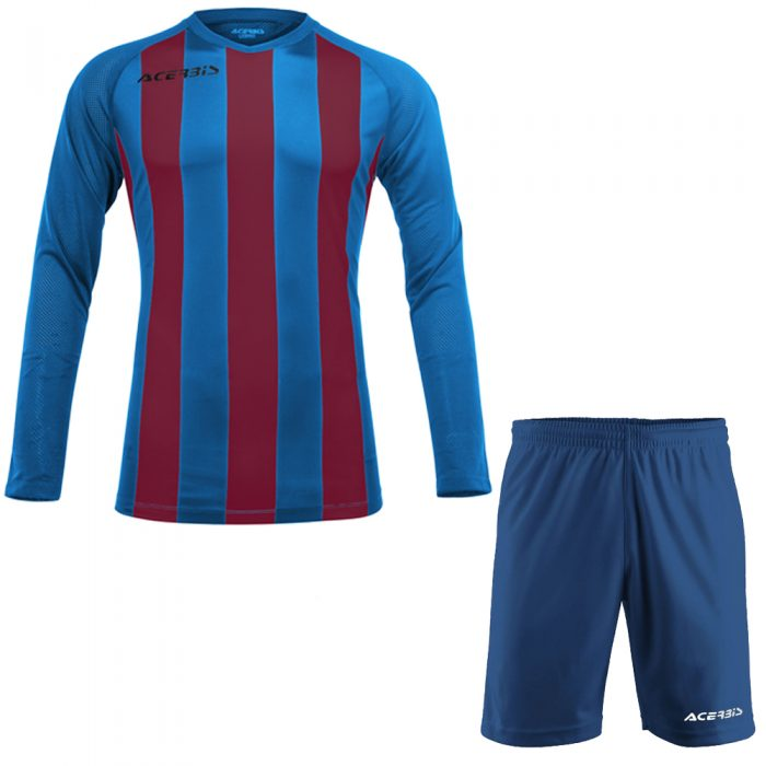 Acerbis Johan Long Sleeve Football Kit Blue Maroon