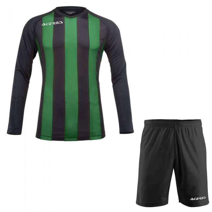 Acerbis Johan Long Sleeve Football Kit Green Black