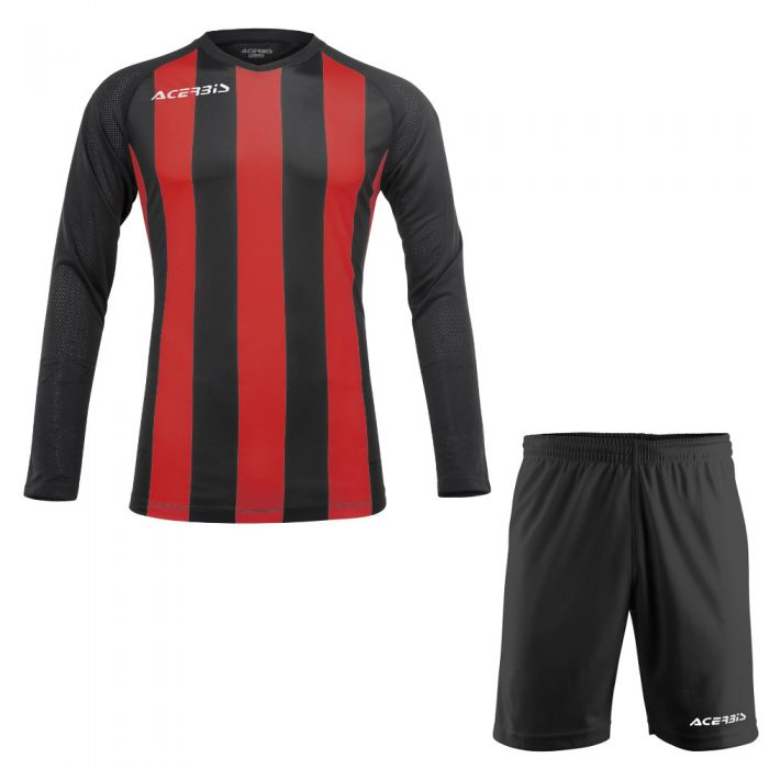 Acerbis Johan Long Sleeve Football Kit Red Black