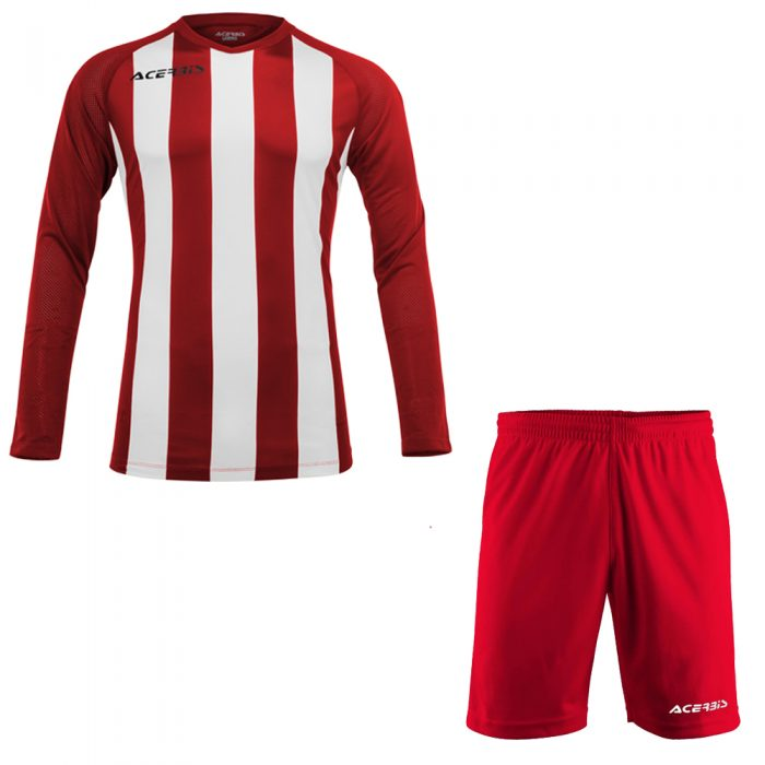 Acerbis Johan Long Sleeve Football Kit Red White