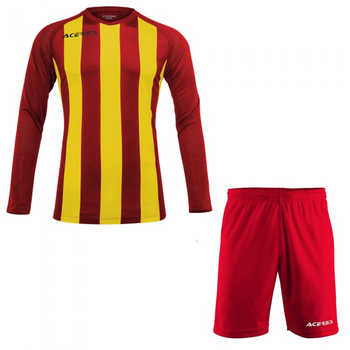 Acerbis Johan Long Sleeve Football Kit Red Yellow
