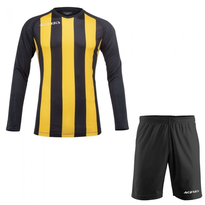 Acerbis Johan Long Sleeve Football Kit Yellow Black
