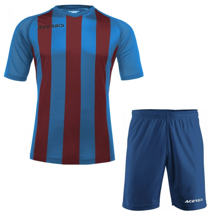 Acerbis Johan Short Sleeve Football Kit Blue Maroon