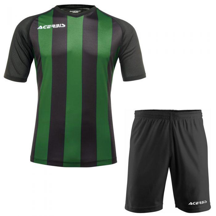 Acerbis Johan Short Sleeve Football Kit Green Black