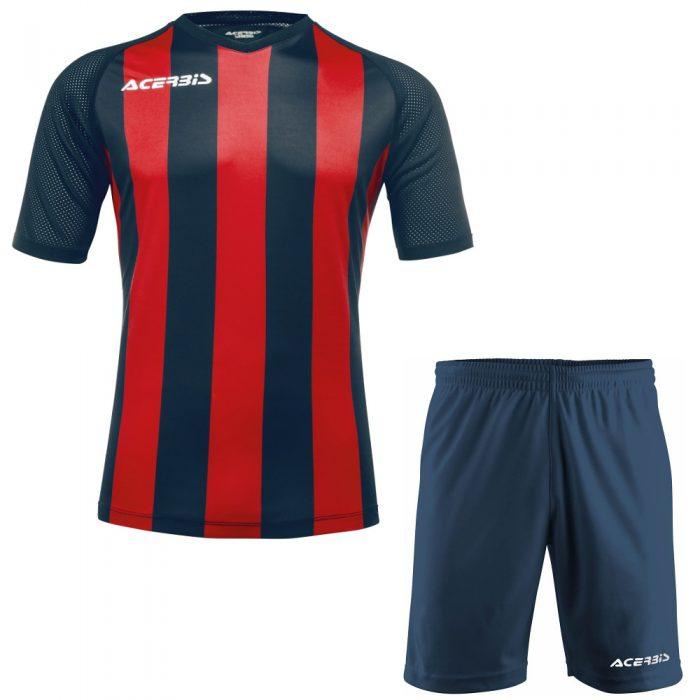 Acerbis Johan Short Sleeve Football Kit Navy Red
