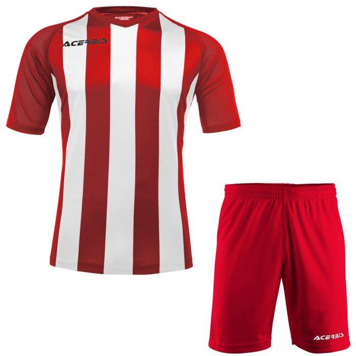 Acerbis Johan Short Sleeve Football Kit Red White