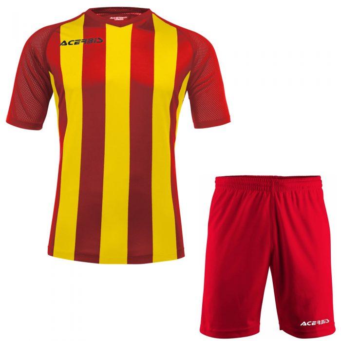 Acerbis Johan Short Sleeve Football Kit Red Yellow