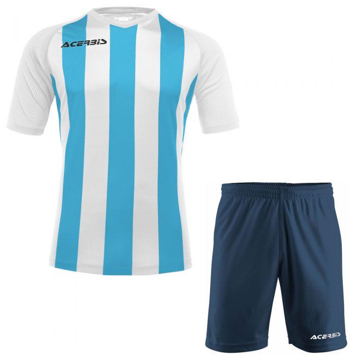 Acerbis Johan Short Sleeve Football Kit Sky White
