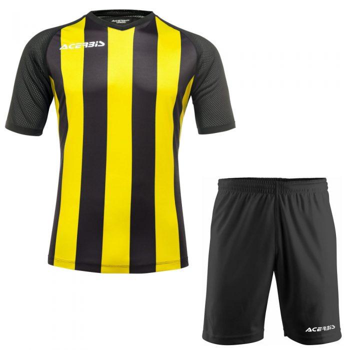 Acerbis Johan Short Sleeve Football Kit Yellow Black
