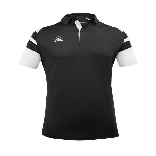 Acerbis Kemari Polo Shirt Black White 1