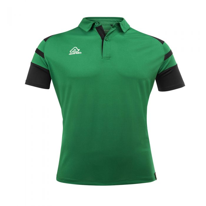 Acerbis Kemari Polo Shirt Green Black 1