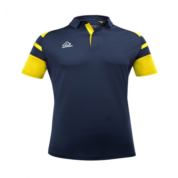 Acerbis Kemari Polo Shirt Navy Yellow 1