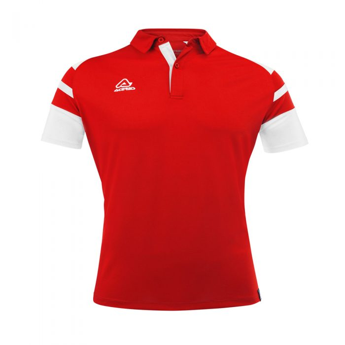 Acerbis Kemari Polo Shirt Red White 1