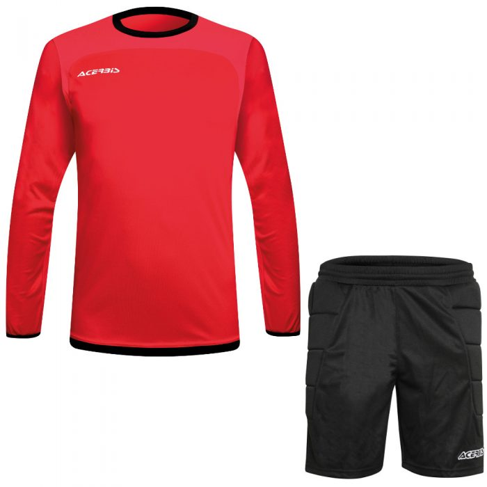 Acerbis Lev Goalkeepers Kit Red Black
