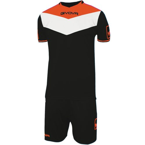 Givova Campo Fluo Football Kit Black Fluo Orange White