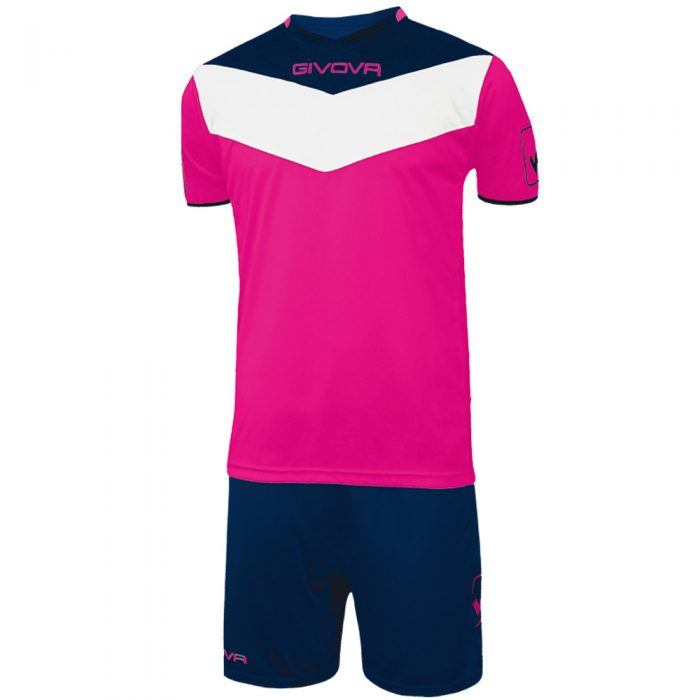 Givova Campo Fluo Football Kit Pink Navy White