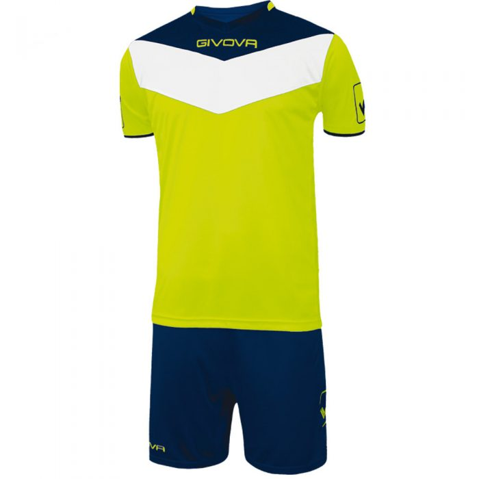 Givova Campo Fluo Football Kit Yellow Navy White