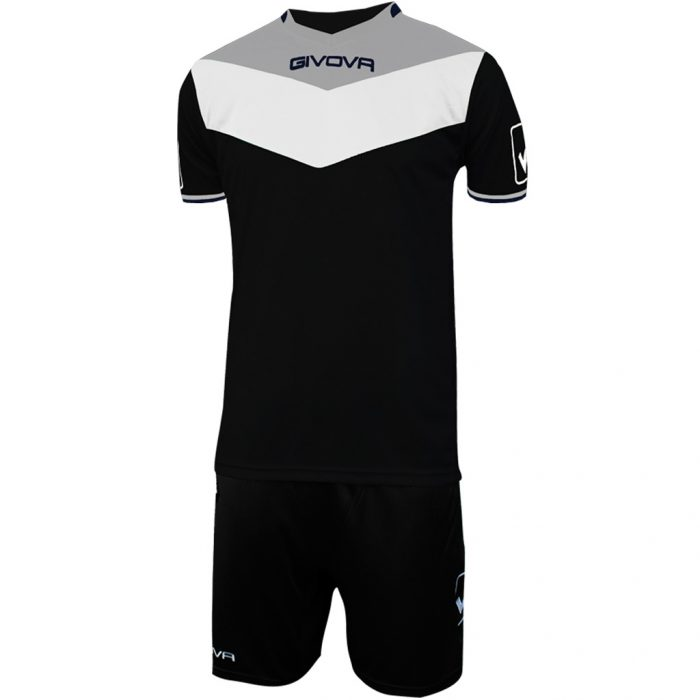 Givova Campo Football Kit Black White Grey