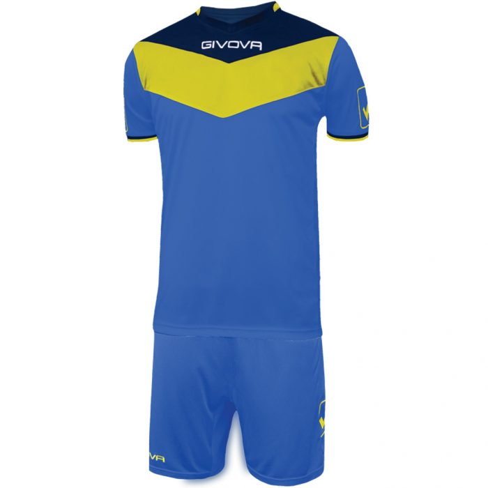 Givova Campo Football Kit Blue Yellow