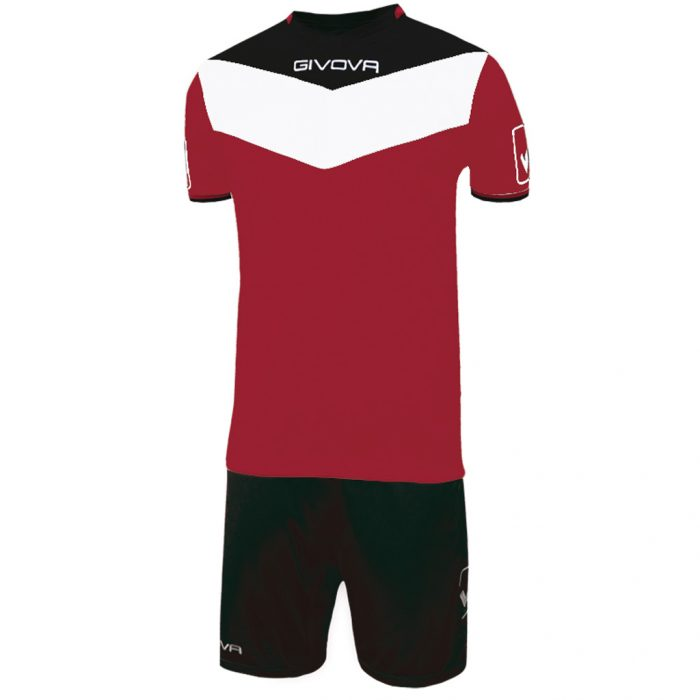 Givova Campo Football Kit Maroon Black White