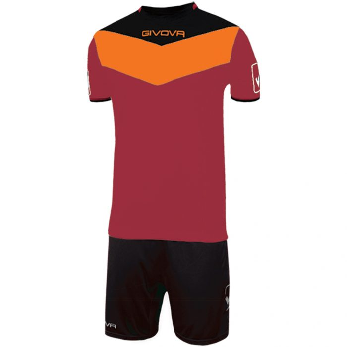 Givova Campo Football Kit Maroon Orange